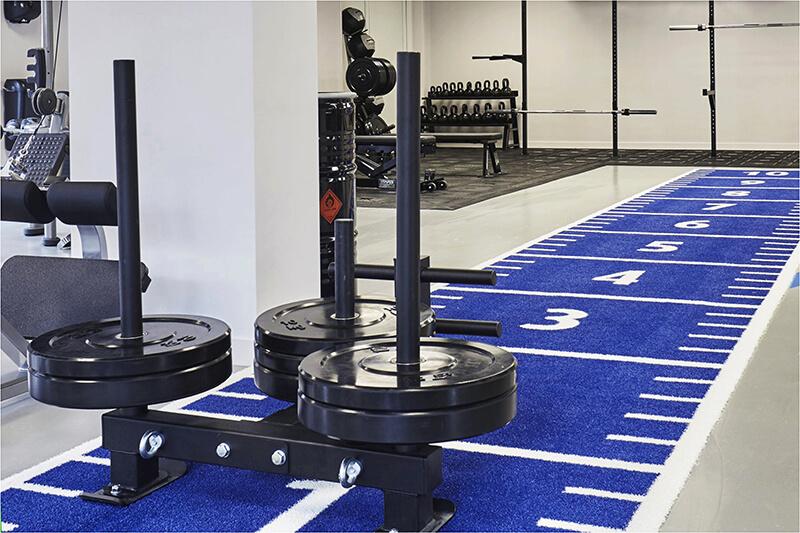 Indoor fitness track